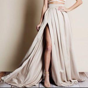 Luxury Satin Maxi Skirt